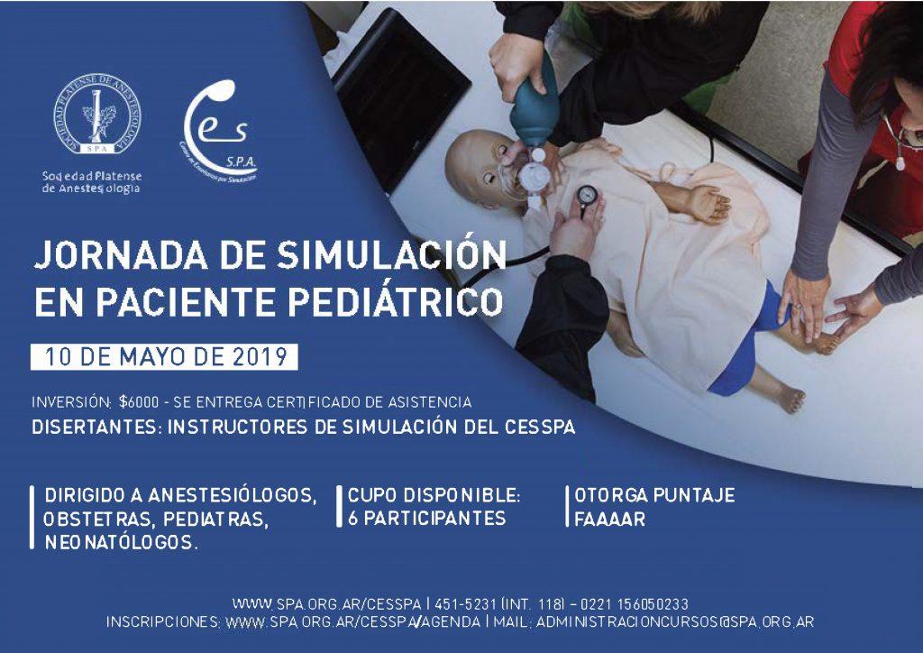 10/5: Jornada de simulación en paciente pediátrico
