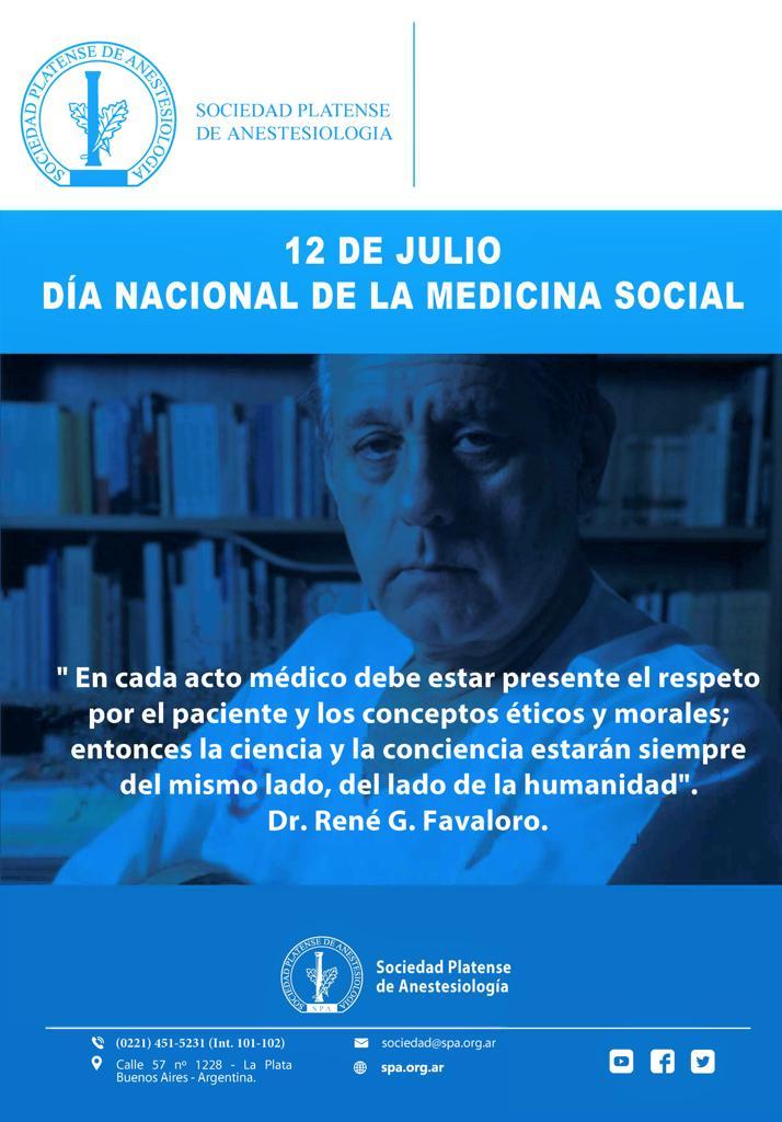 12 de julio: Día Nacional de la Medicina Social