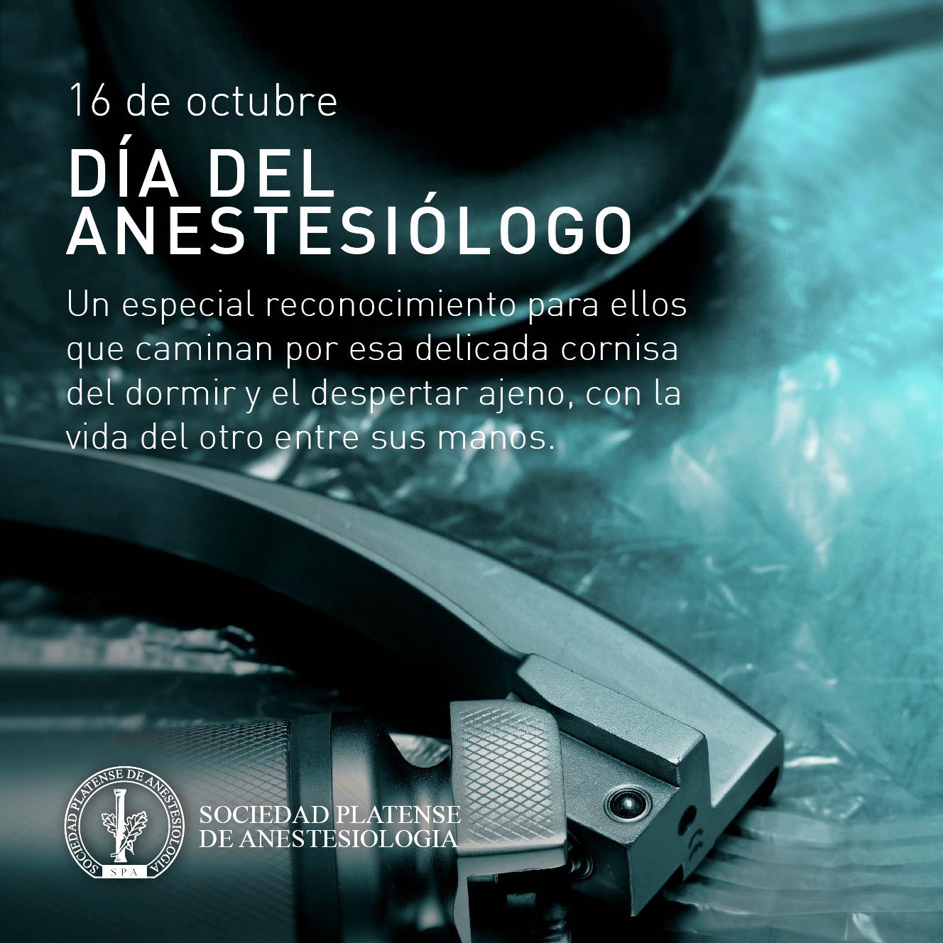 16 de Octubre: Día Mundial del Anestesiólogo