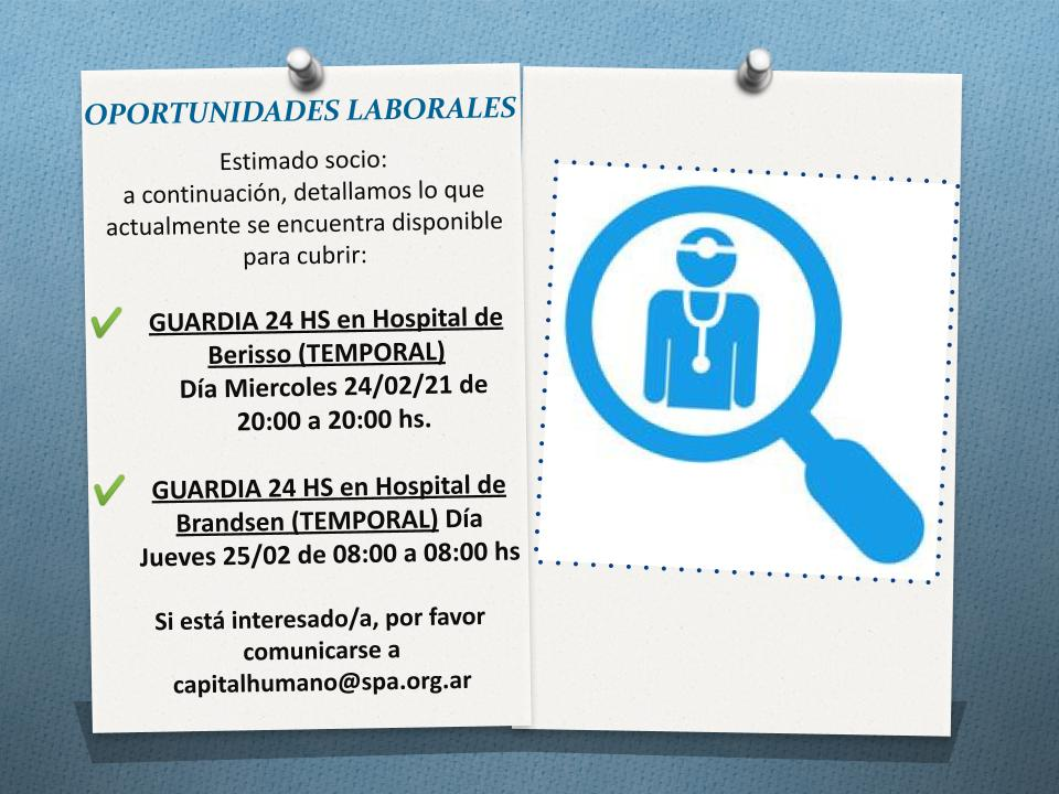 Oportunidad Laboral Temporal