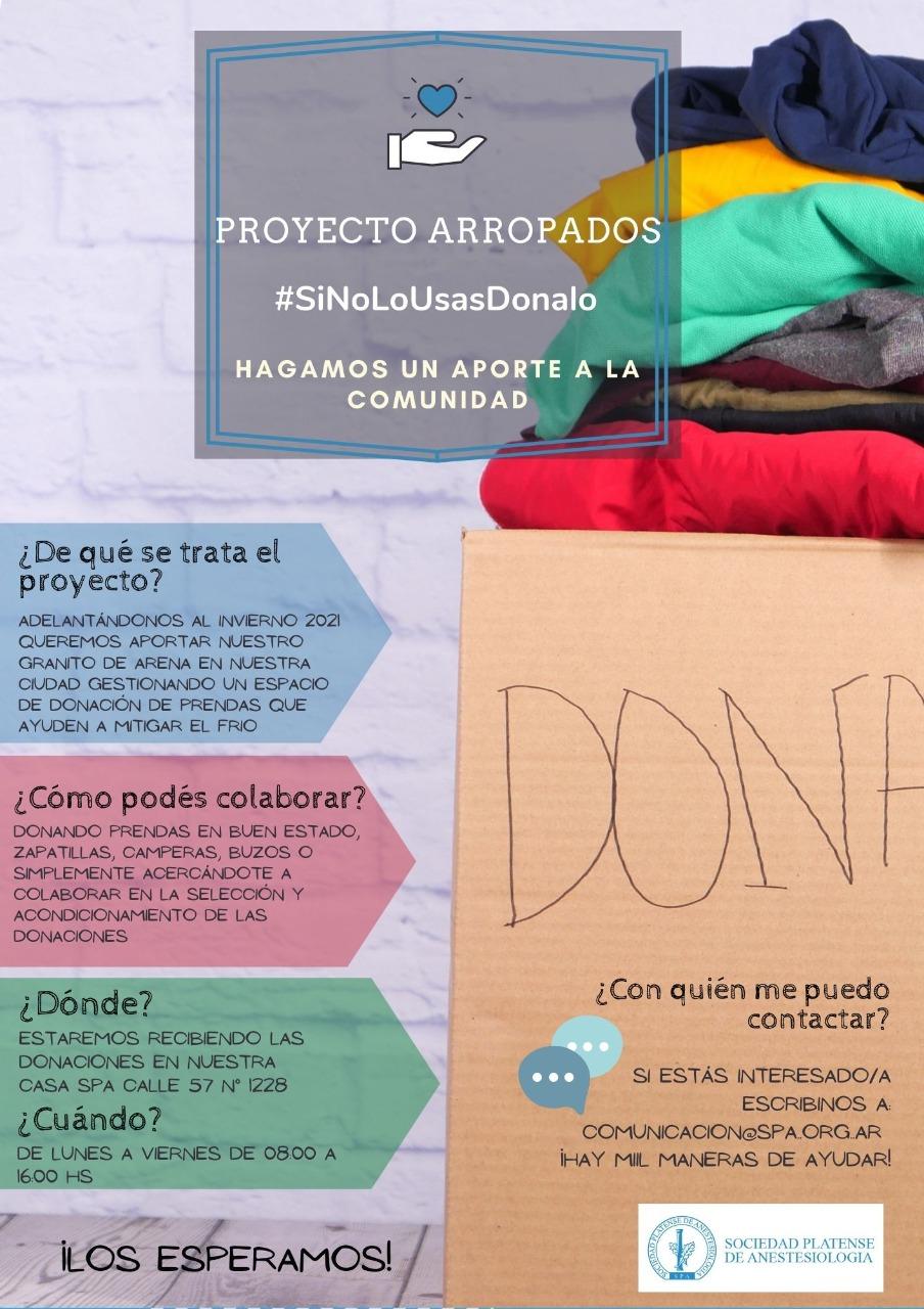 Proyecto «Arropados»: #SiNoLoUsasDonalo